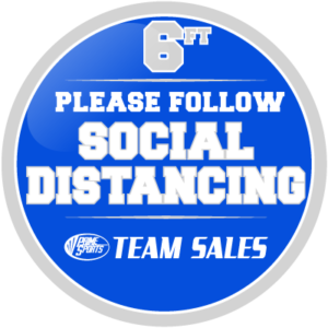 Custom Social Distancing Round Decal